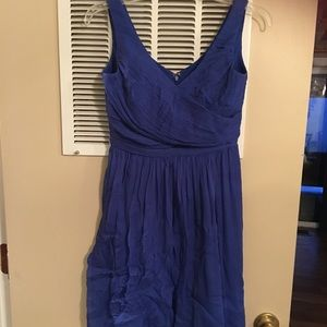 NWT J Crew  silk sleeveless dress petite 4. Blue.